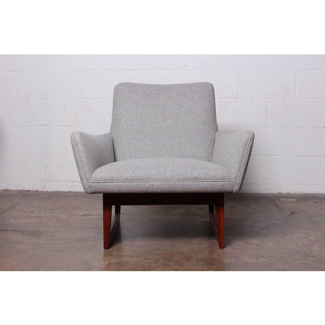 Gray Pair of Lounge Chairs by Jens Risom For Sale - Image 8 of 13