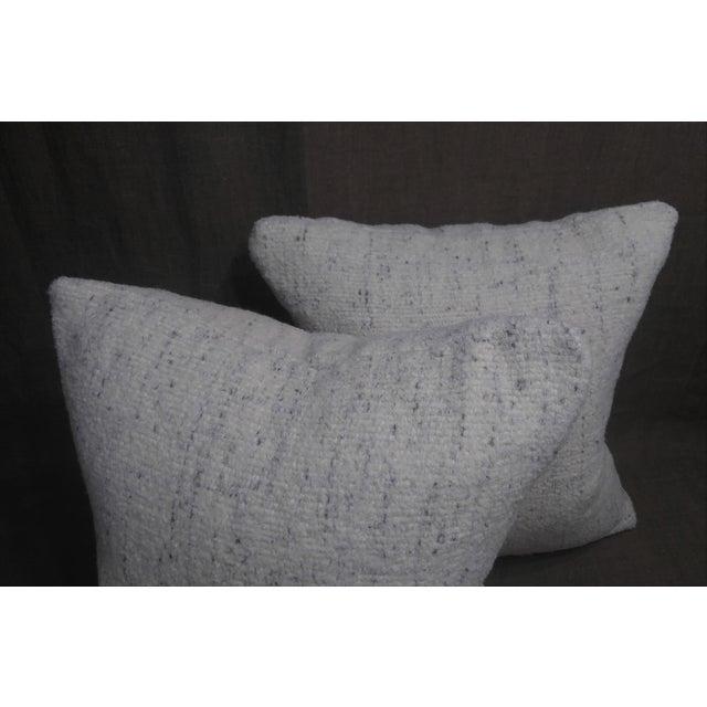 Modern Rosemary Hallgarten Wool Fabric Alpaca Boucle Throw Pillows - a Pair For Sale - Image 3 of 7