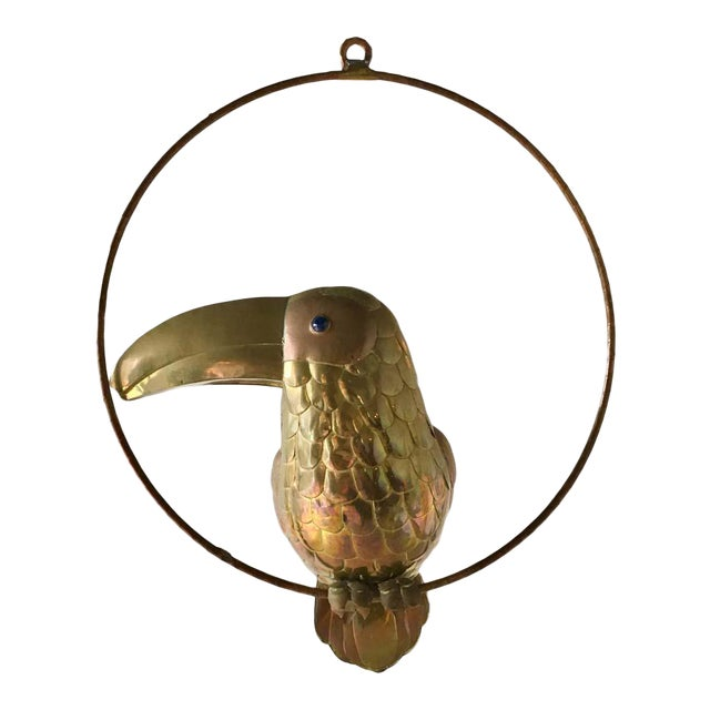 Brass and Copper Toucan by Sergio Bustamante 1960s For Sale