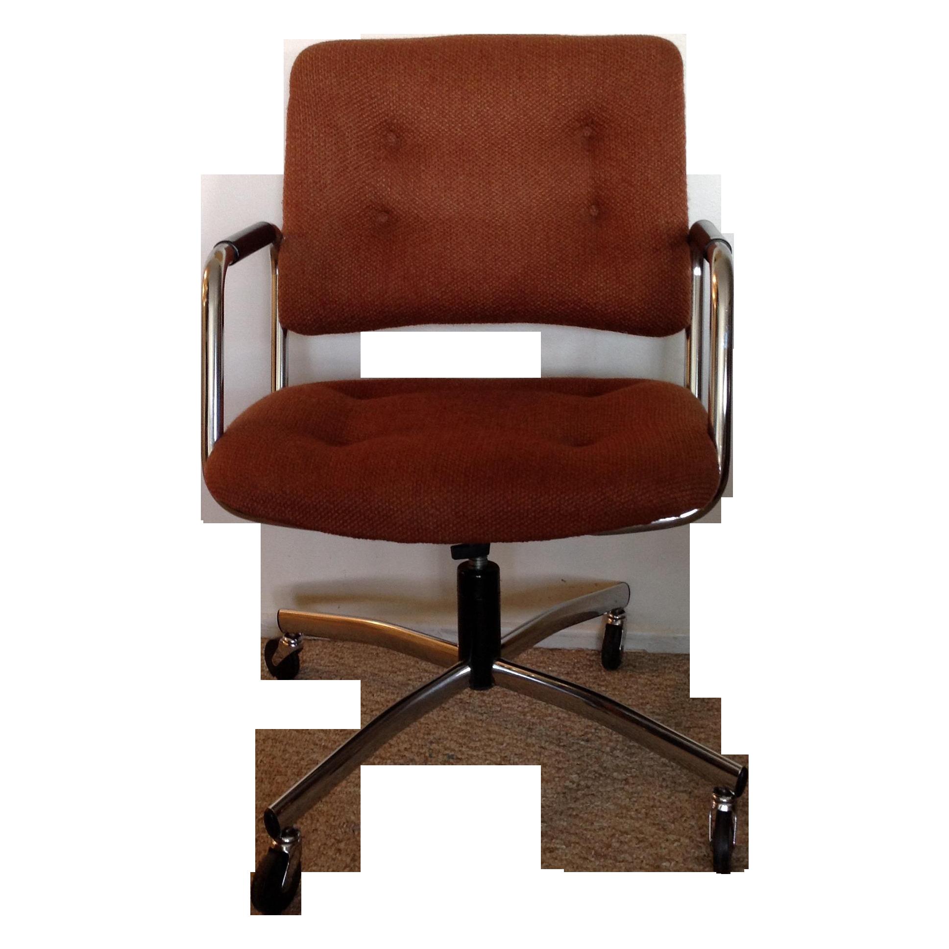 vintage office furniture for sale. Vintage Orange Tweed Steelcase Office Chair Furniture For Sale R