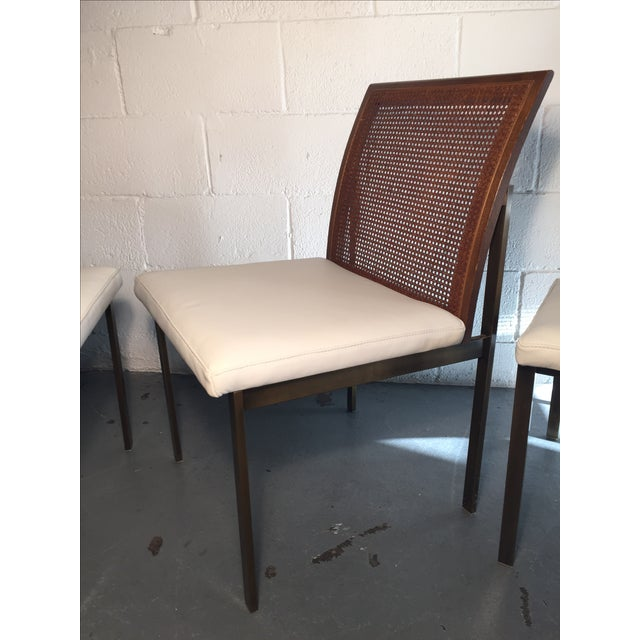 Paul McCobb Cane & Leather Dining Chairs - S/6 - Image 10 of 11