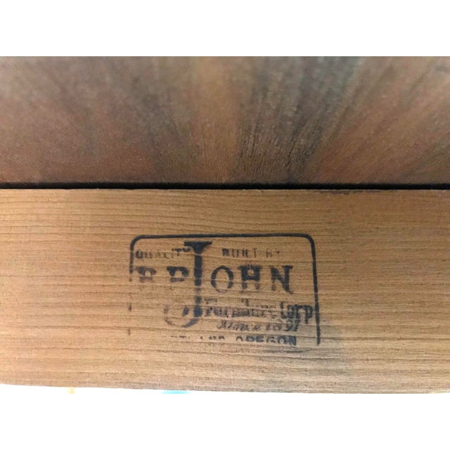 Mid-Century Modern B P John Wood Dining Table For Sale - Image 12 of 12