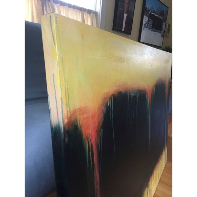 """Contemporary """"Yellow Sunset"""", Contemporary Abstract Painting by Stephen Remick For Sale - Image 3 of 9"""