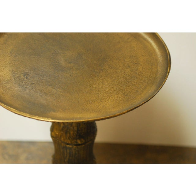 Diminutive Brass Bamboo Drink Table - Image 4 of 6