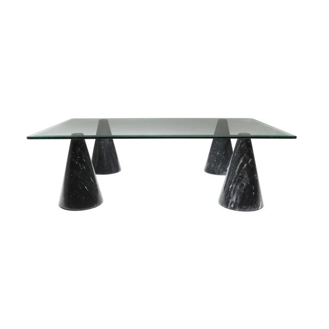 Marble and Glass Coffee Table in the Style of Massimo Vignelli - 1970s For Sale - Image 10 of 10