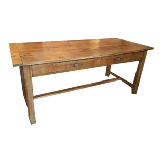 French Pine Writing Desk For Sale