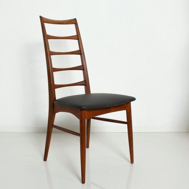 Black Set of 4 Danish Modern Teak Ladder Back Niels Koefoeds Dining Chairs Hornslet For Sale - Image 8 of 11