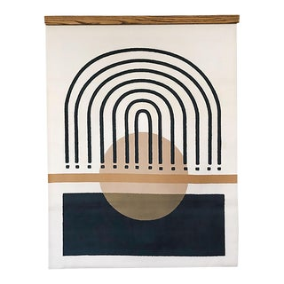 Miro-Arch Lines Canvas Wall Hanging For Sale