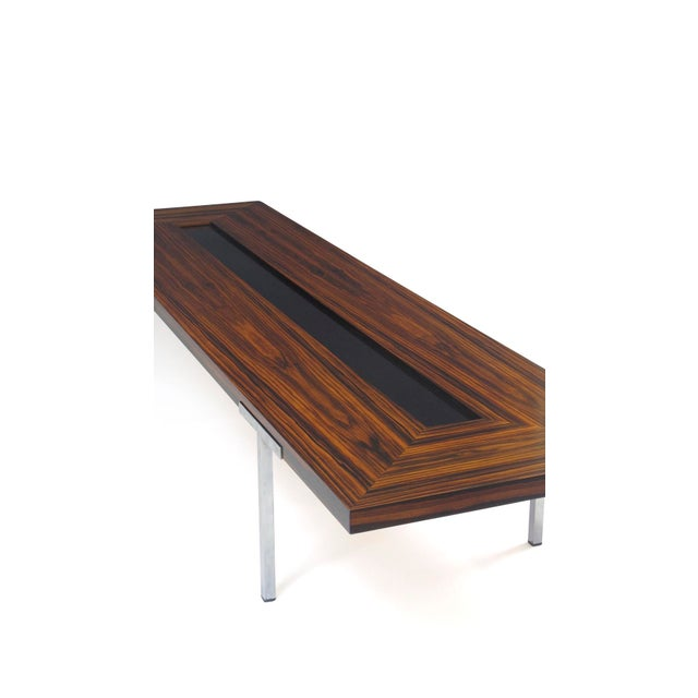 Metal Santos Rosewood Coffee Table For Sale - Image 7 of 11