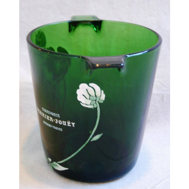 Glass Perrier-Jouët Champagne Chiller Bucket For Sale - Image 7 of 8