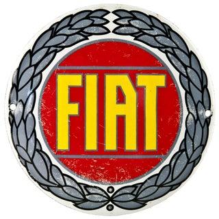 French Enamel Fiat Radiator Badge