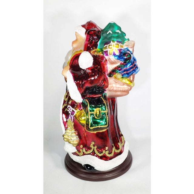 """Mid-Century Modern Mid 20th Century Authentic Thomas Pacconi Classics 14"""" Glass Blown Handpainted Santa Claus For Sale - Image 3 of 7"""