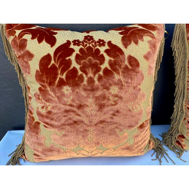 Traditional Luigi Bevilacqua Silk Velvet Pillows - A Pair For Sale - Image 3 of 8