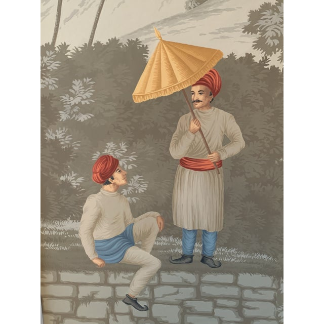 Contemporary DeGournay Early Views of India Framed Panels - A Pair For Sale - Image 3 of 6