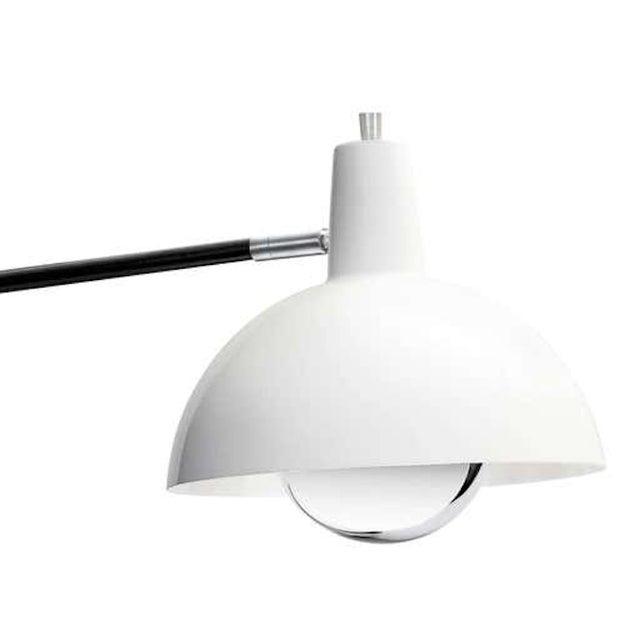 J. J. M. Hoogervorst Model 1702 'Paperclip' Wall Light for Anvia in White. Hoogervorst's most popular 1950s design, this...