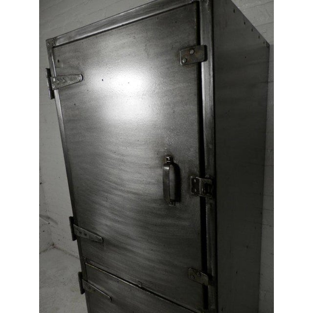 Over-sized stripped to bare metal and lacquered. Heavy duty industrial metal lockers, perfect for loft living. Seller...