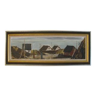 Modernist Seascape Painting by Peder Brondum Sorensen, Denmark For Sale
