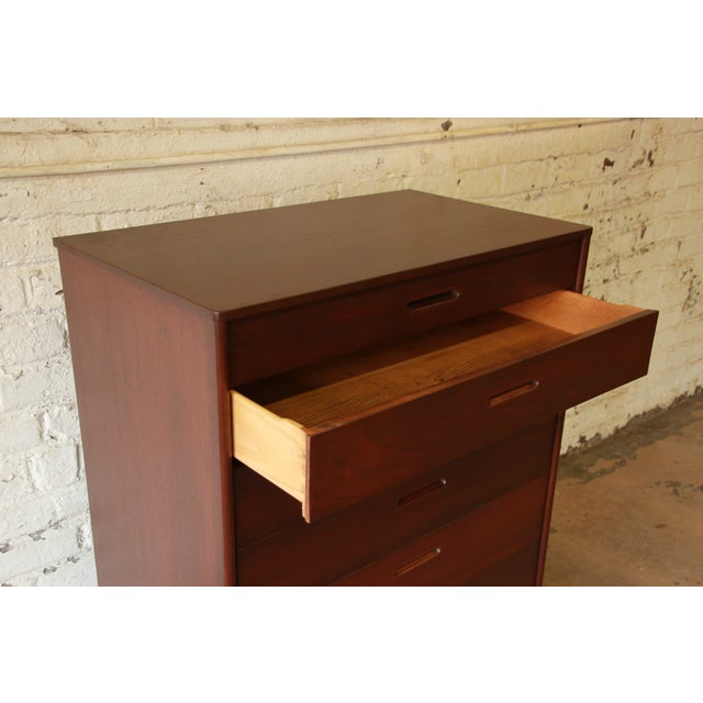 Edward Wormley for Dunbar Mahogany Tallboy Dresser - Image 6 of 9