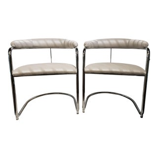 Retro Chrome Side Chairs- a Pair For Sale