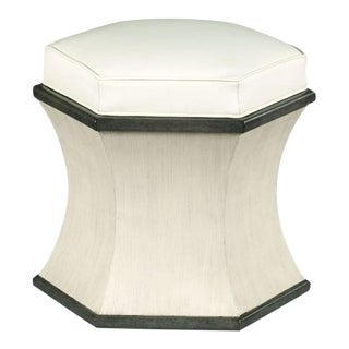 Modern White Hexagon Ottoman For Sale
