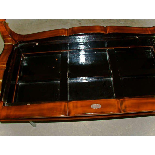 1970s 1972 Viet Nam Thanhle Cinnabar Lacquered Wood Goldfish Coffee Table For Sale - Image 5 of 12