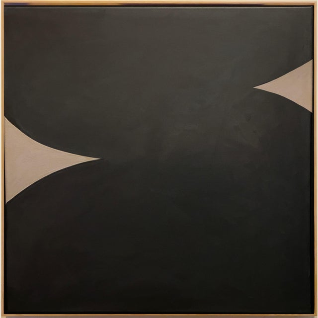 2020s Contemporary Minimalist Monochromatic Acrylic Gouache Painting by Brooks Burns, Framed For Sale - Image 5 of 5