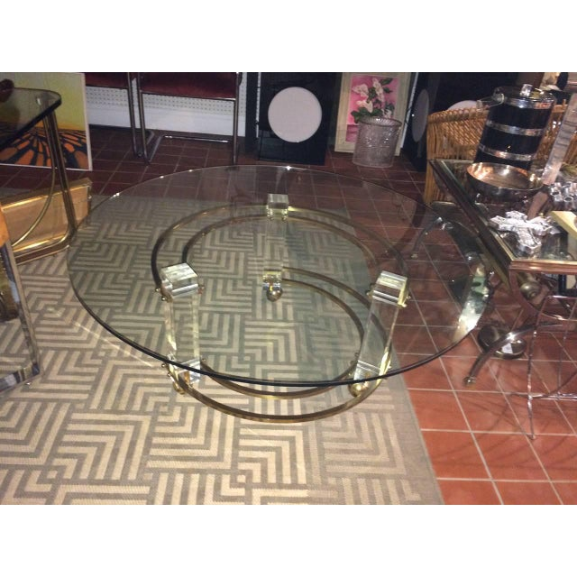 """We just placed a smaller piece of glass on this table with a 30"""" diameter. New photos will be coming, Charles Hollis Jones..."""