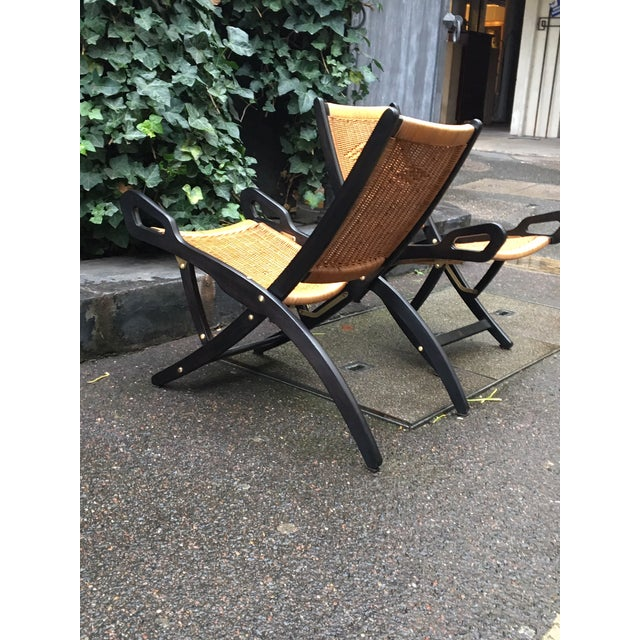 "Gio Ponti Gio Ponti (1891-1979), Pair of Folding Fireside Chairs, ""Ninfea"" Model For Sale - Image 4 of 7"