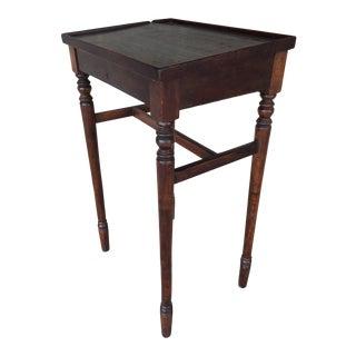 Antique Pine Tilt Top Schoolmasters Desk For Sale