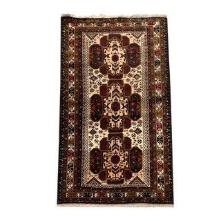 "Tribal Hand Knotted Carpet - 3'9"" X 6'7"" For Sale"