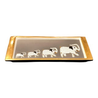 Waylande Gregory Stoneware Tray For Sale