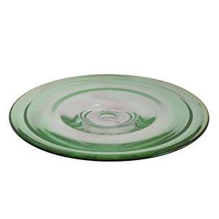 Kosta Boda Green Glass Centerpiece Bowl Goran Warff For Sale