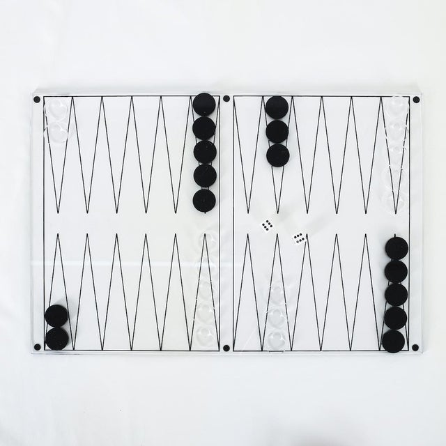 Transparent Lucite Backgammon Game, Italy 1970 For Sale - Image 8 of 8