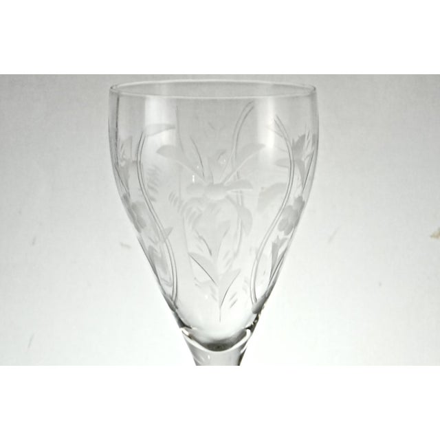1960s Cut-Crystal Wine Glasses - Set of 8 - Image 2 of 5