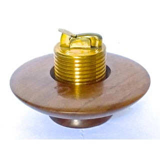 Danish Walnut Saucer Cigarette Lighter Preview