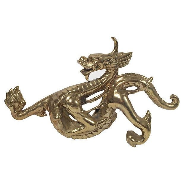 Brass Dragon Doorstop - Image 1 of 3