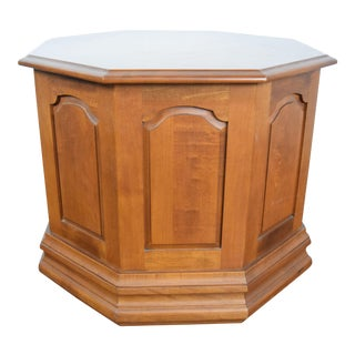 19th Century Traditional Walnut Octagonal Side Table For Sale