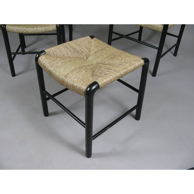 1940s 1930s Italian Lacquered Birch Chairs and Ottomans- 4 Pieces For Sale - Image 5 of 11