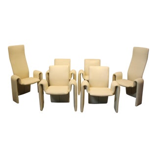 Leather Dining Chairs by Steve Leonard for Brayton International For Sale