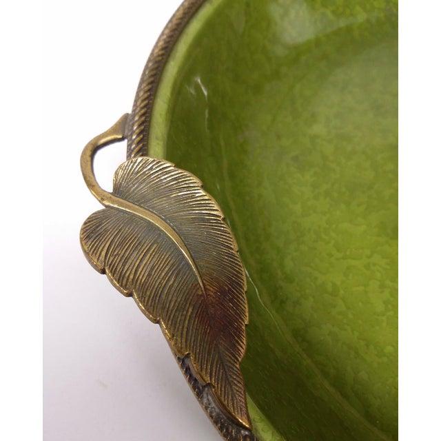 Enameled Evans Green Ashtray - Image 5 of 7