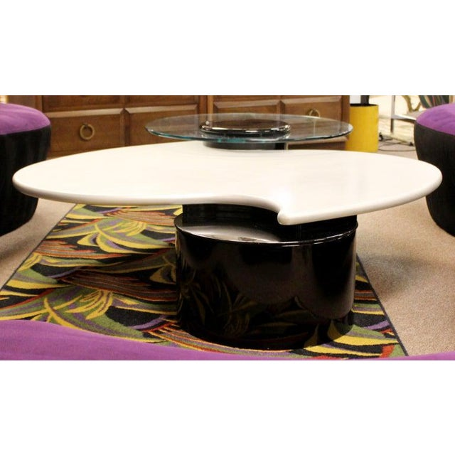1980s Postmodern Modernist Rougier Articulating 3-Tier Coffee Table, 1980s For Sale - Image 5 of 11