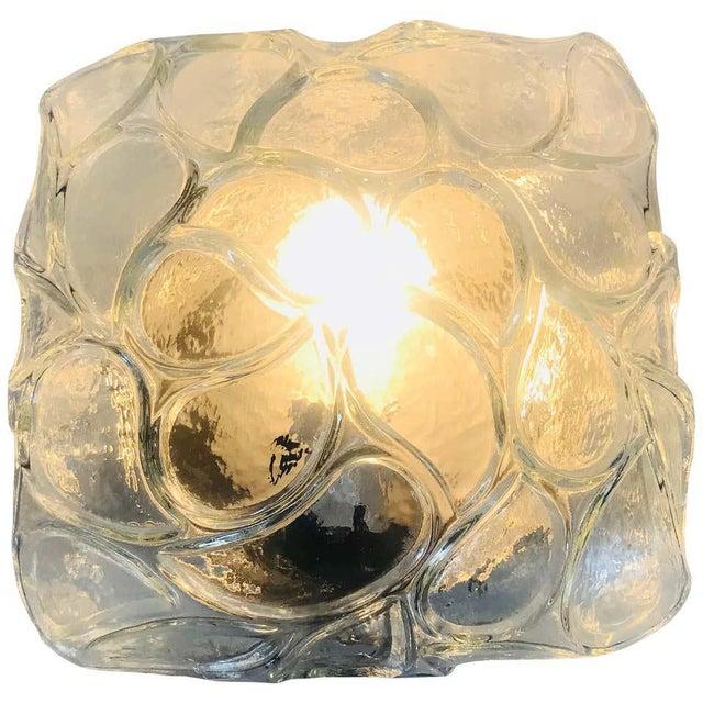 Glass Flush Mount by Glashütte Limburg, circa 1960s For Sale - Image 9 of 9