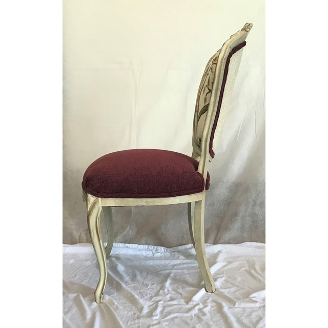 Early 19th Century 19th Century Louis XV Château d'Amboise Parcel Gilt Chairs - a Pair For Sale - Image 5 of 8