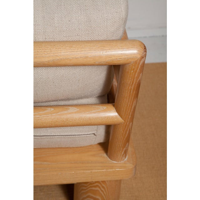 Karl Springer LTD Pair of Karl Springer Cerused Oak Dowelwood Chairs For Sale - Image 4 of 13