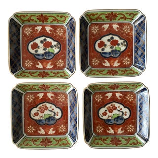 Asian Ceramic Nut Dishes - Set of 4 For Sale