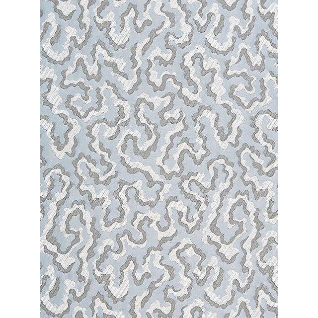 Sample, Scalamandre Vermicelli Weave, Glacier Fabric For Sale