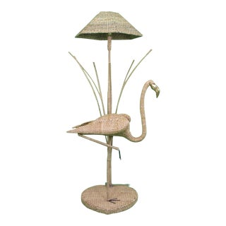 Flamingo With Reed Floor Lamp by Mario Lopez Torres For Sale