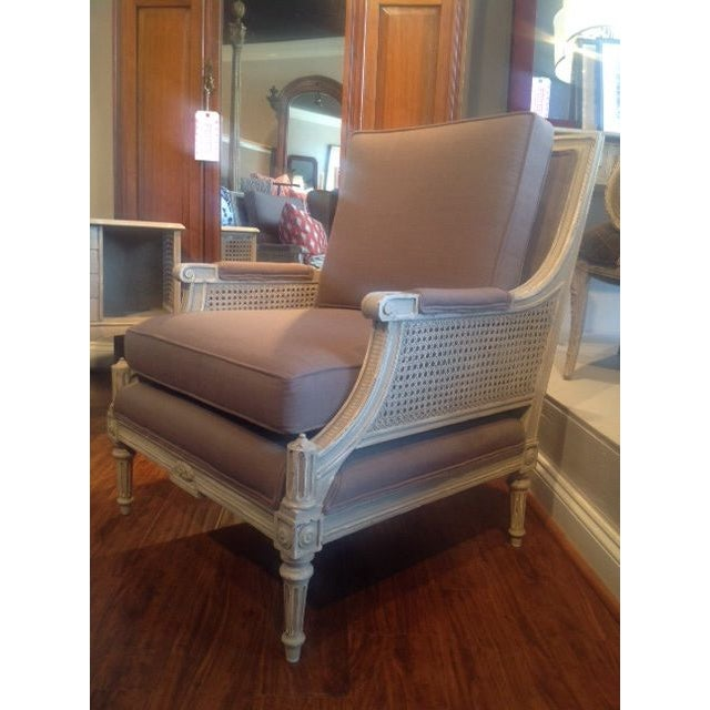 Vintage Cane Arm Chairs - A Pair - Image 3 of 6