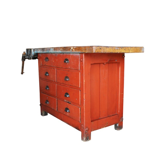Industrial Red Workbench - Image 2 of 3