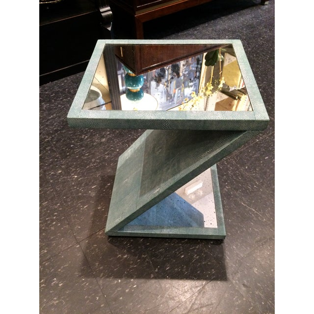Z-Shaped Table with Antiqued Mirror - Image 3 of 5